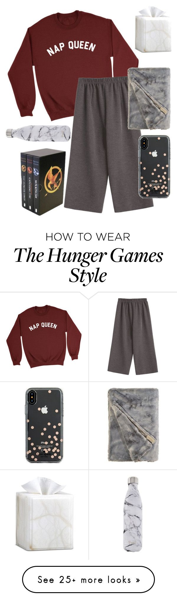 """""""Sick day """" by tlou14hurst on Polyvore featuring Trilogy, Labrazel, S'well and Kate Spade"""