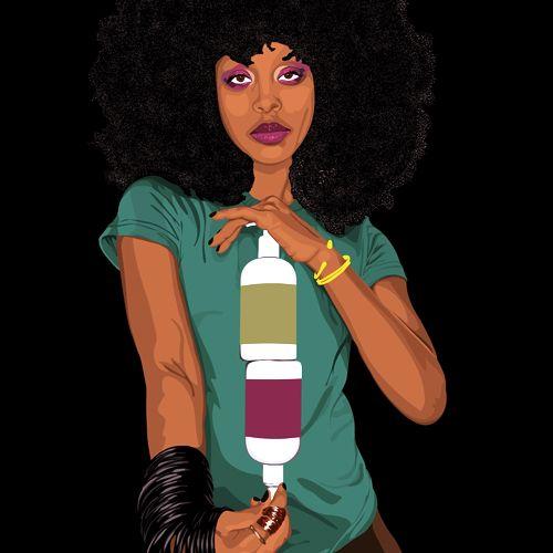 Erykah Badu ★VRZLABS★ #vectorial #illustration Cool Digital #Artworks For Your Place www.vrzlabs.com