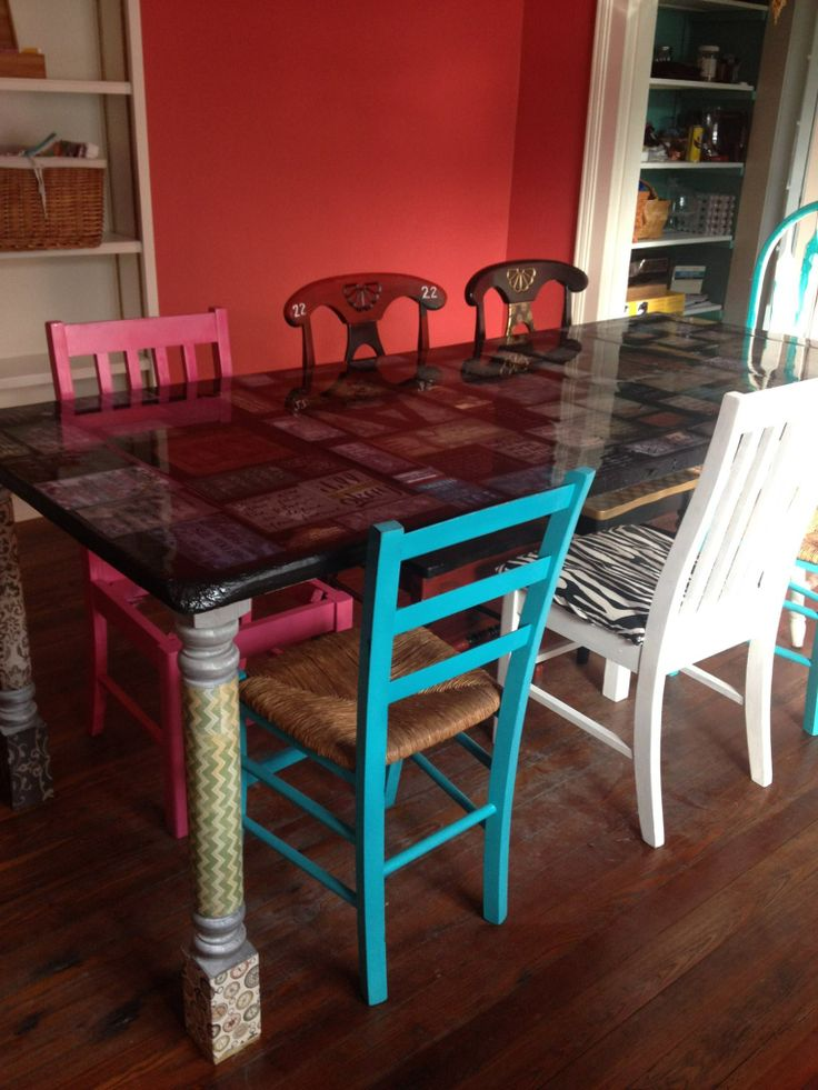 Old Wooden Door Turned Inspirational Dinner Table