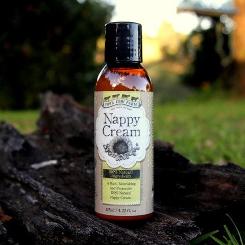 Nappy Cream for Nappy Rash - Four Cow Farm  A rich, nourishing and protective 100% natural Nappy Cream, it is light and easy-to-use cream for daily use on baby's most sensitive skin.