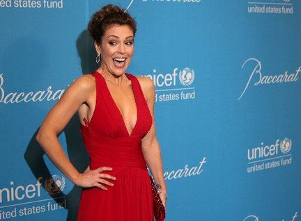 red dress alyssa milano