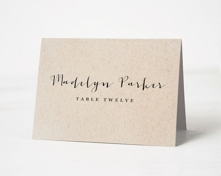 Place holder card wedding