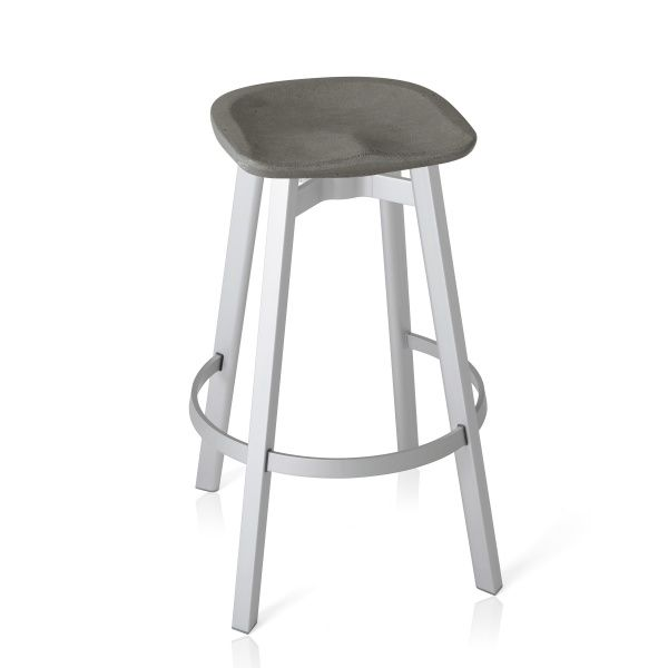 Su Counter Stool Eco Concrete Seatsu 24 Cswith The Invisible Values Of Design Engineering And Strength The Emeco Su Collecti With Images Bar Stools Emeco Counter Stools