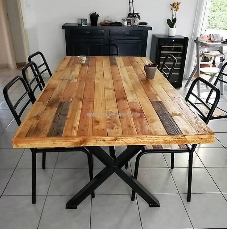 The 25+ Best Pallet Dining Tables Ideas On Pinterest