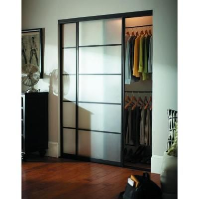 Contractors Wardrobe 72 in  x 81 in  Silhouette 5 Lite Aluminum Bronze  Finish Interior Bypass Sliding DoorBest 20  Contractors wardrobe ideas on Pinterest   Crazy beds  . Frosted Sliding Closet Doors Home Depot. Home Design Ideas