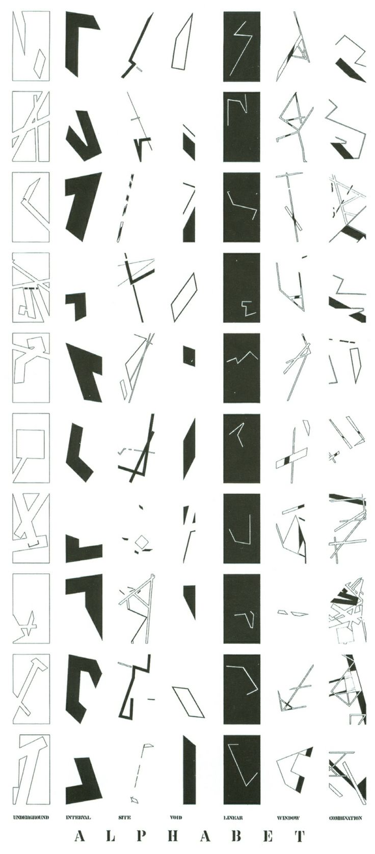 "Daniel Liebskind | Jewish museum | Berlin | 1988-9  Daniel Liebskind  ""A diagram of an alphabet of architectural diagrams."" ©Studio Dan..."