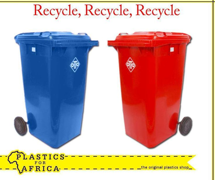 Colour code your #recycling with these 240lt and 130lt wheelie bins, available in charcoal, red, green, blue, orange, yellow and white from your nearest #PlasticsforAfrica branch.