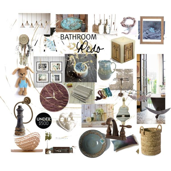 """Rustic Bathroom"" by erika-hodi-horvathne on Polyvore"