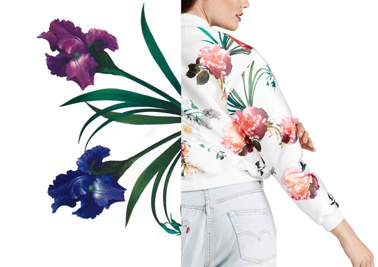 Shop The Bomber Online  MARETHCOLLEEN  Florals