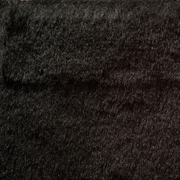 Dover Fur Black 6 ft. 6 in. x Your Choice Length Indoor/Outdoor Carpet/Roll Runner