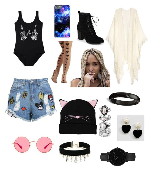 """""""Sem título #26"""" by analuizaalmeida008 on Polyvore featuring moda, Disney Stars Studios, Journee Collection, Ray-Ban, Palm Beach Jewelry, ASOS, GUESS e CLUSE"""