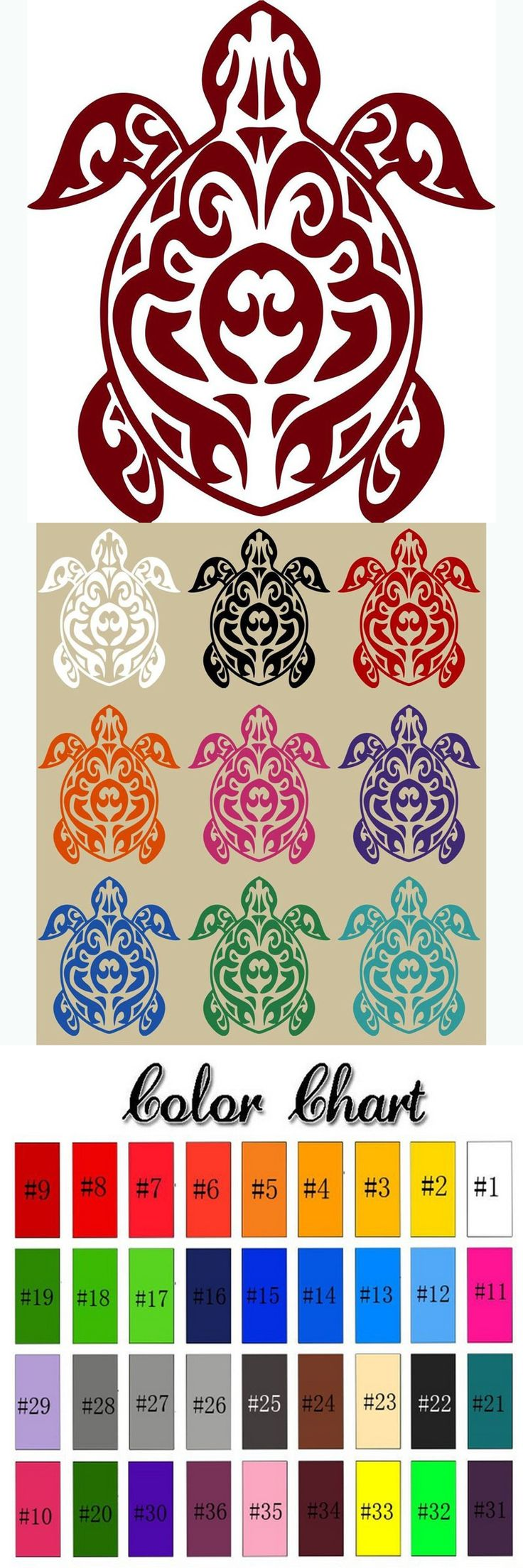 Cute Tortoise Ainmal Car Stickers Sea Turtle Posters Home Decor Carton Tortoise Wall Stickers For Kids Room Vinyl Car Decals $15.79
