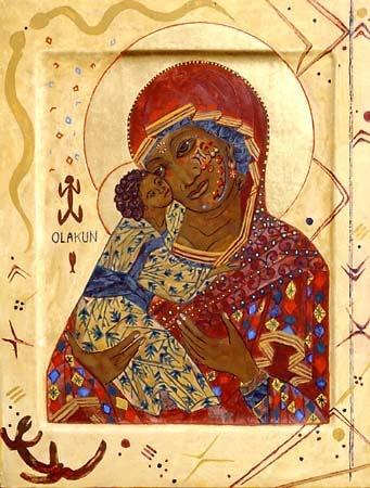Byzantine African Madonna and Child