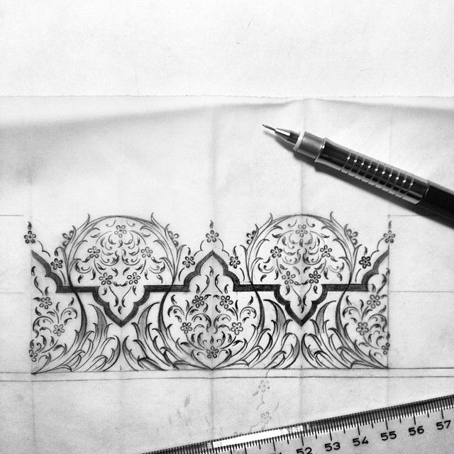 ✏️✏️ #drawing #design #mywork #artwork #artsglobal #artcollective #blackandwhite #illumination #tezhip #istanbul #turkey