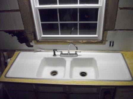 Vintage Double Drain Board Sink. This Is The Same Sink In My Grandmas  Kitchen!