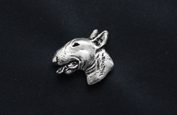 Bull Terrier head dog pin limited edition by ArtDogshopcenter