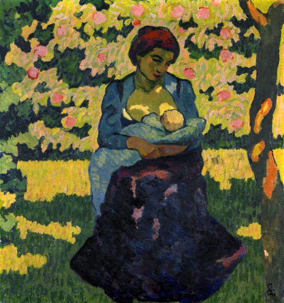 La mère, Giovanni Giacometti : tableau de GRANDS PEINTRES et peinture de Giacometti
