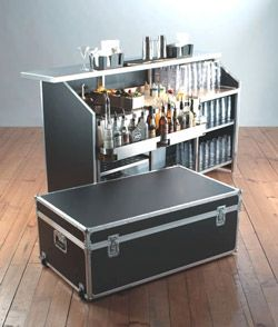 Cocktail bar in a suitcase-Next Antique Show!