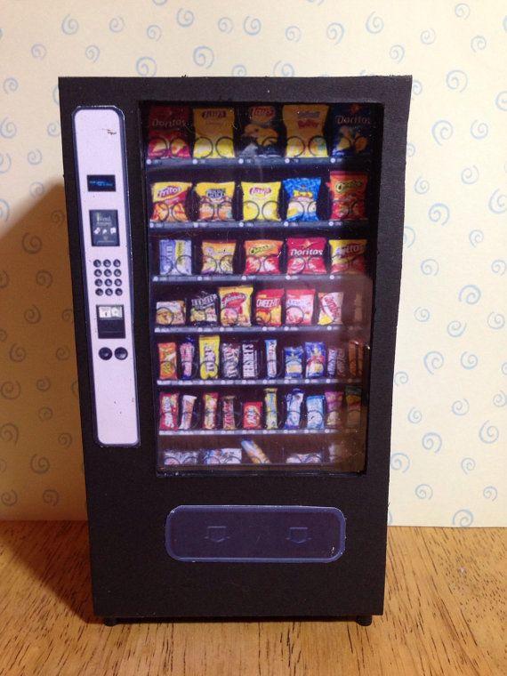 Dolls house miniature handmade vending machine 1/12 scale for cafeteria, pub, shopping mall, leisure centre etc