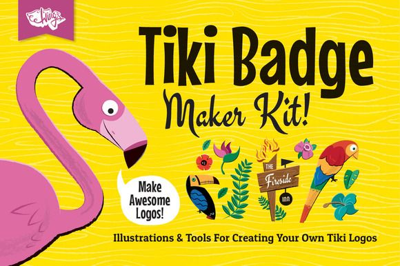 Check out Tiki Logos and Badge Maker Kit by Wing's Art and Design on Creative Market