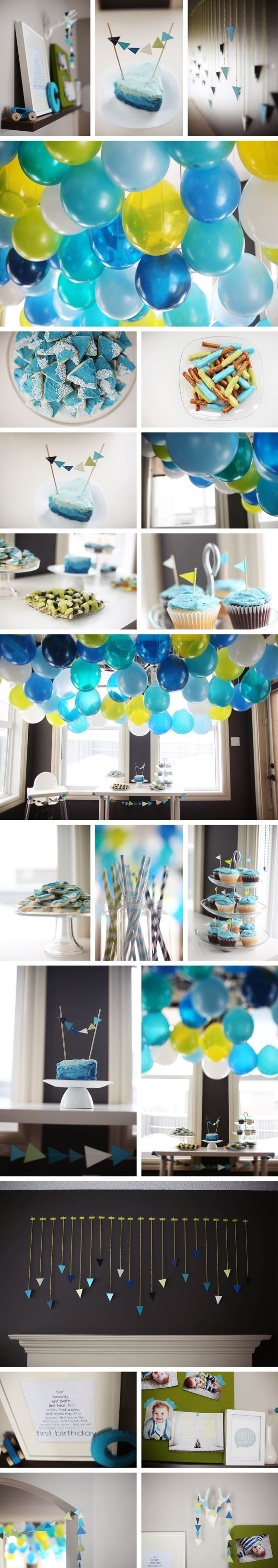Cole's awesome first birthday party! Love every detail.