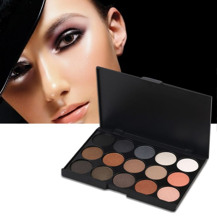 2017 Professional Women 15 Colors Matte Shimmer Pigment Eye Shadow Palette Makeup Cosmetic Eyeshadow Pallete  Make Up Tool