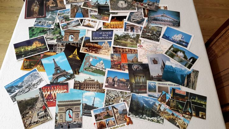 French postcards from the 1960s to 1980s. 49 colour postcards, French ephemera, collectable old postcards. by NanaBarbarastreasure on Etsy