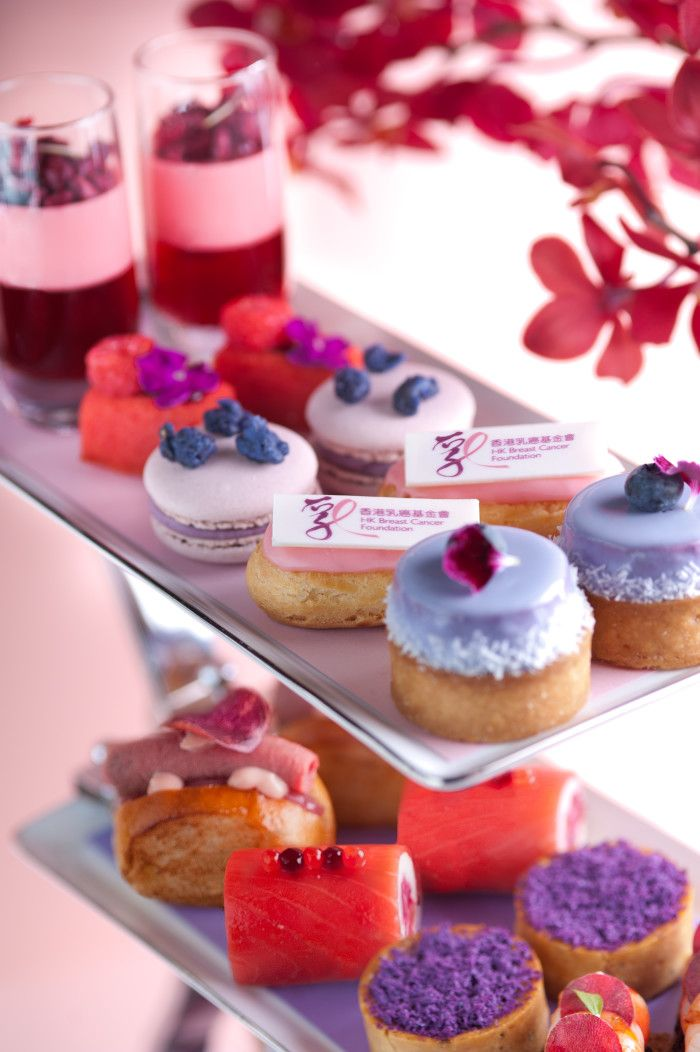 """Landmark Oriental Hong Kong Launches A """"Perfect In Pink And Purple"""" Afternoon Tea - Luxury Trump"""