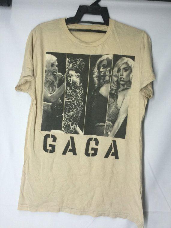 Lady Gaga Shirt Womens Large Lady Gaga Sexy Plain T Shirt Lady Gaga Artists Women's Size L by MudeanDean