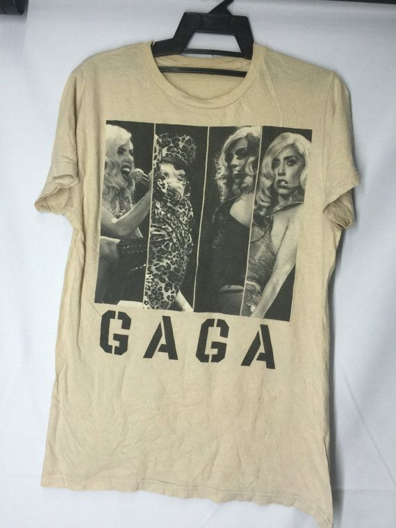 Lady Gaga Shirt Womens Large Lady Gaga Sexy Plain T Shirt Lady Gaga Artists Women's Size L by MudeanDean