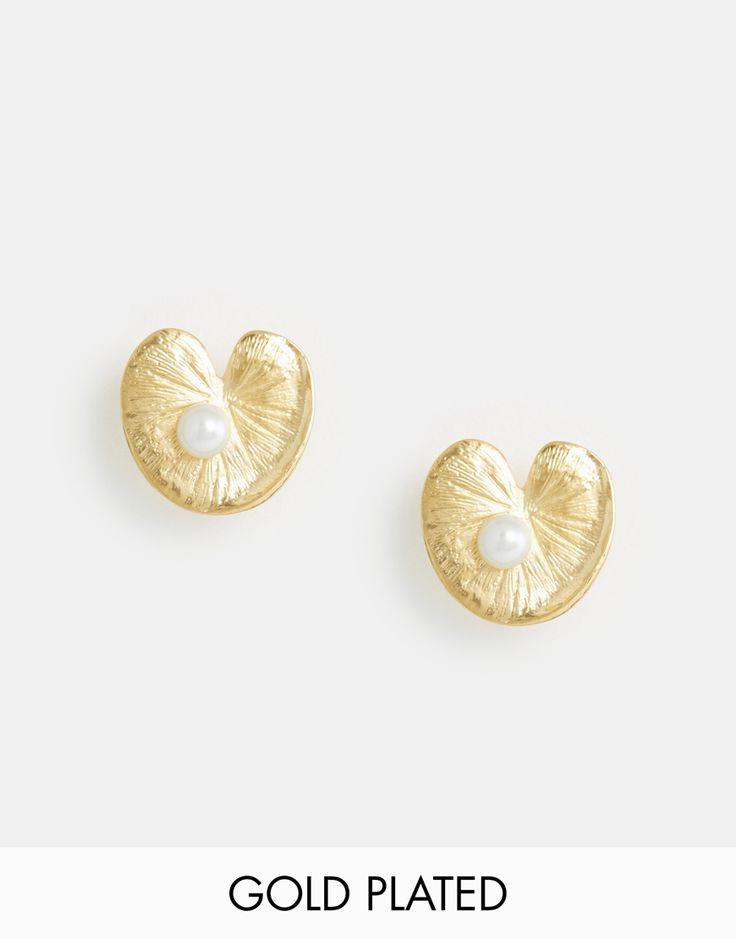 Image 1 - Bill Skinner - Boucles d'oreilles nénuphars et perles d'eau douce