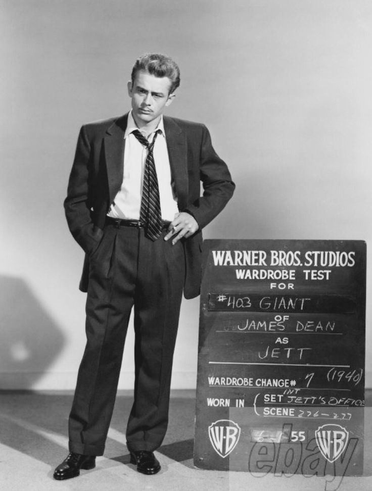 "James Dean costume test for ""Giant"", (1956)."
