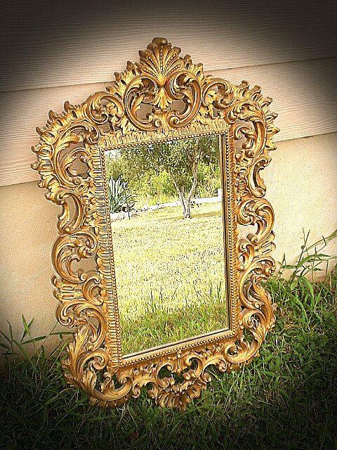 Vintage Ornate Gold Mirrors Vintage Mirror Ornate Gold