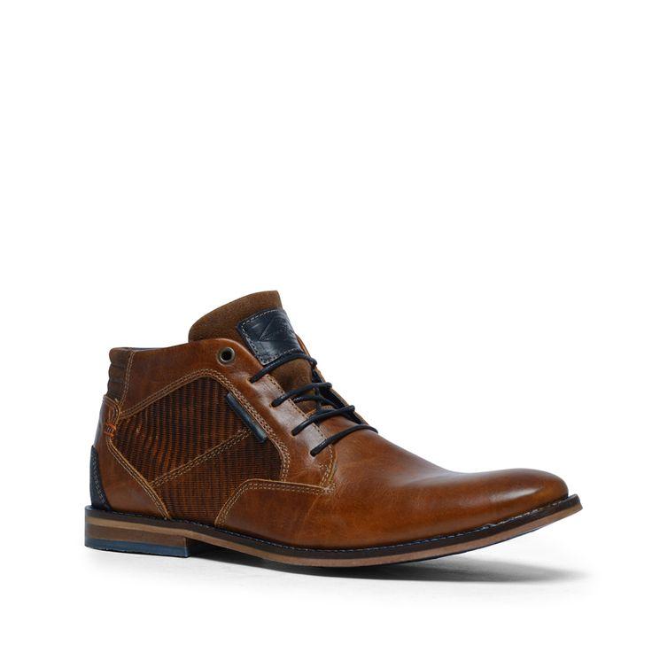 Cognac veterboots leer  Description: Cognac veterschoenen mogen niet ontbreken in uw schoenencollectie! Deze schoenen hebben een binnen- en buitenzijde van leer. De schoenen combineert u gemakkelijk met een casual outfit zoals een mooie jeans en een overhemd. Bijzonder aan dit model zijn de blauwe details wat goed afsteekt tegen de cognac kleur. De maat valt normaal.  Price: 76.99  Meer informatie  #manfield