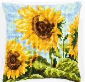 Sunflower Cushion Front Counted Cross Stitch Kit