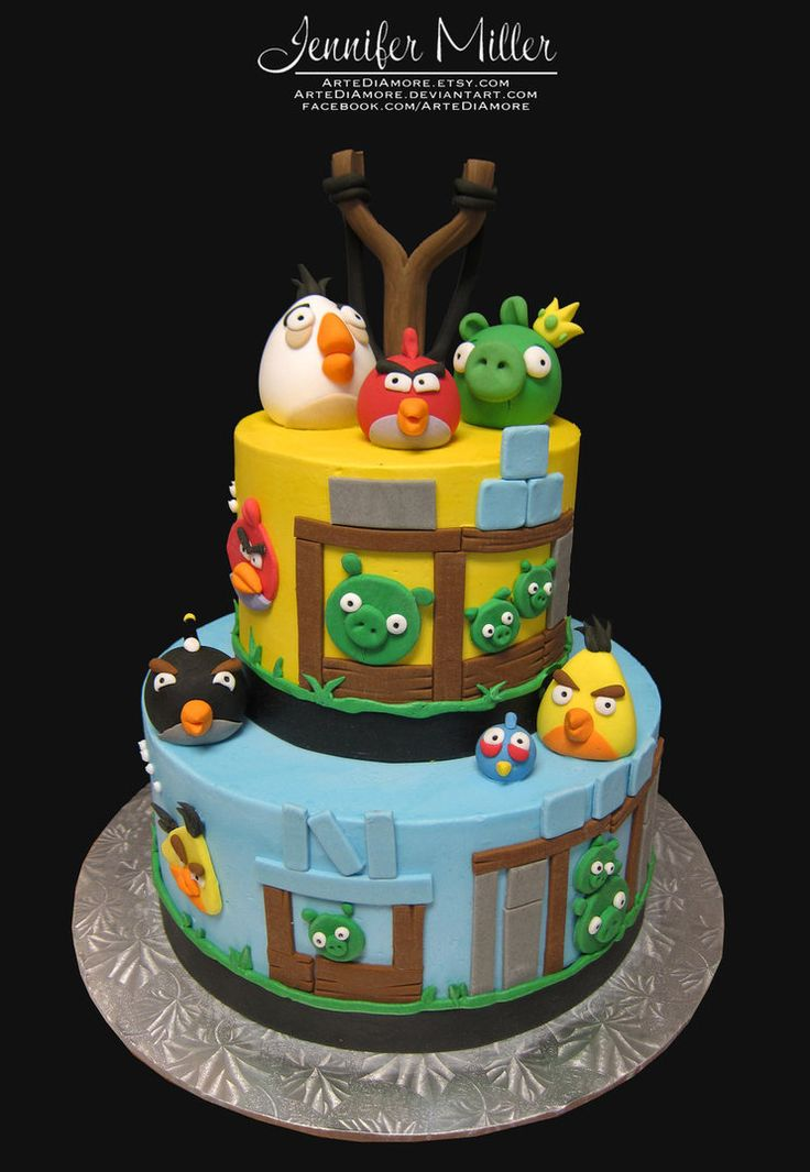 Angry Birds Cake by ~ArteDiAmore on deviantART
