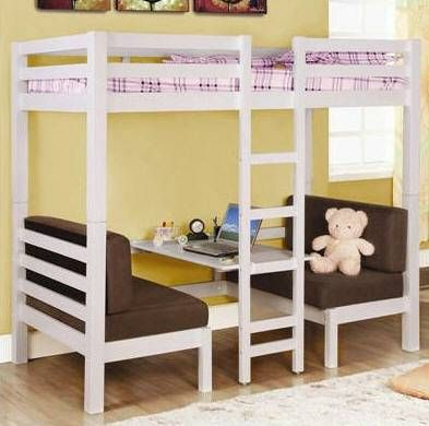 Bunk bed changes to a table! Just like a camper!