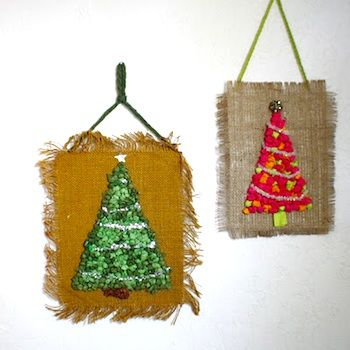 Retro Tissue Paper Christmas Trees - Things to Make and Do, Crafts and Activities for Kids - The Crafty Crow