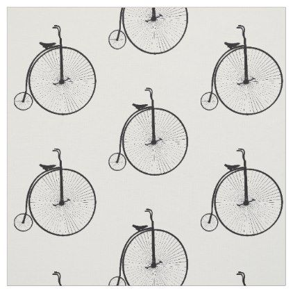 Penny farthing Cycle Theme Bicycle Print Fabric  $24.25  by Designer3163  - custom gift idea