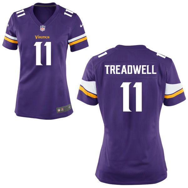 Womens Minnesota Vikings Laquon Treadwell #11 Nike Team Color Purple Game NFL Jersey