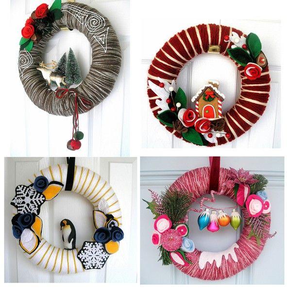 M s de 25 ideas incre bles sobre coronas para puerta en - Coronas navidenas faciles ...