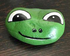 25 Best Painted Frog Rocks-Ideen