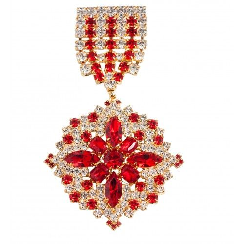 Order brooch is this season's MUST-HAVE! Wear yours gold plated crystal rhinestone brooch on a lapel, coat, cardigan or scarve.