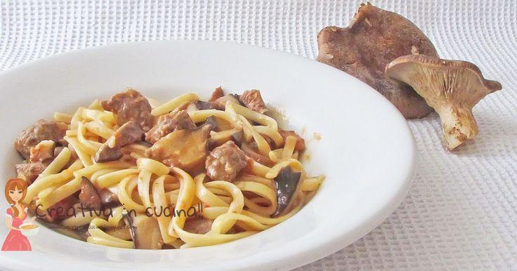 Linguine alla boscaiola con norcia e funghi, un ottimo primo piatto tutto da preparare! per la ricetta >> http://creativaincucina.blogspot.it/2016/03/linguine-alla-boscaiolacon-norcia-e.html Linguine with mushrooms and mushrooms with norcia, an excellent first course everything to prepare! for the recipe >> http://creativaincucina.blogspot.it/2016/03/linguine-alla-boscaiolacon-norcia-e.html