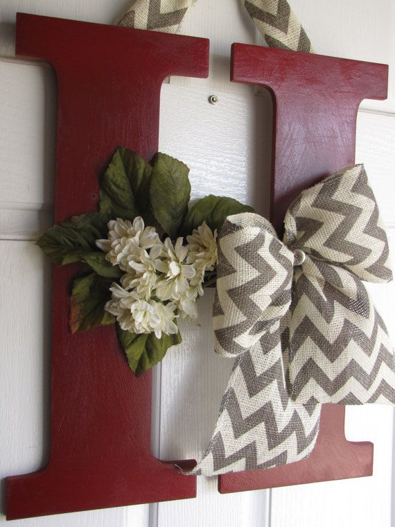 Decorative Letter Decor by MadeWithLoveForUbyMe on Etsy, $40.00