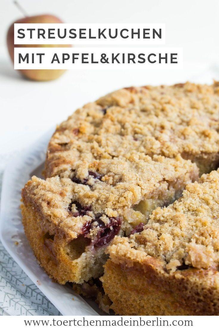 Kirsch Apfel Streuselkuchen Streusel Kuchen Streuselkuchen Mit Kirschen Streuselkuchen
