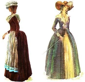 Французский женский костюм 18 век картинки