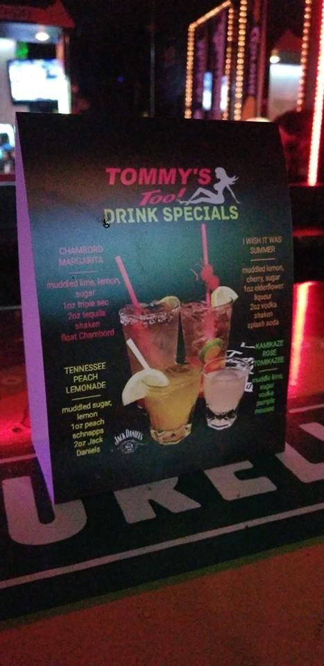 ➡️➡️ CHECK OUT TOMMY'S TOO DRINK SPECIALS AVAILABLE 7 NIGHT A WEEK! #YUM…