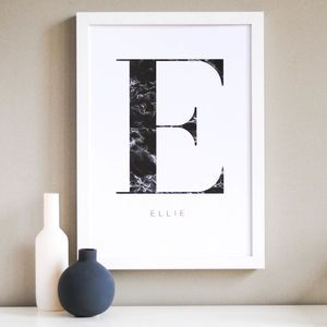 Personalised Initial And Name Print - personalised