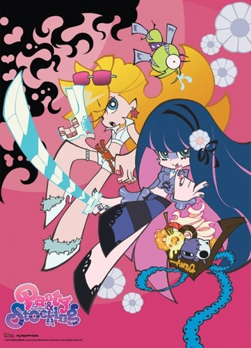 Panty and Stocking Pink Panty & Stocking Wall Scroll